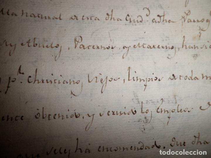 Manuscritos antiguos: CERTIFICADO DE LIMPIEZA DE SANGRE Y LIBERTAD - SEGOVIA AÑO 1816 - CHRISTIANOS VIEJOS·MUY RARO. - Foto 6 - 151482054
