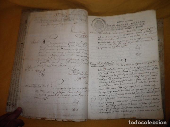 Manuscritos antiguos: CERTIFICADO DE LIMPIEZA DE SANGRE Y LIBERTAD - SEGOVIA AÑO 1816 - CHRISTIANOS VIEJOS·MUY RARO. - Foto 8 - 151482054