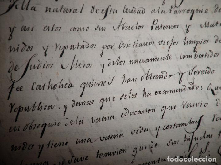 Manuscritos antiguos: CERTIFICADO DE LIMPIEZA DE SANGRE Y LIBERTAD - SEGOVIA AÑO 1816 - CHRISTIANOS VIEJOS·MUY RARO. - Foto 9 - 151482054