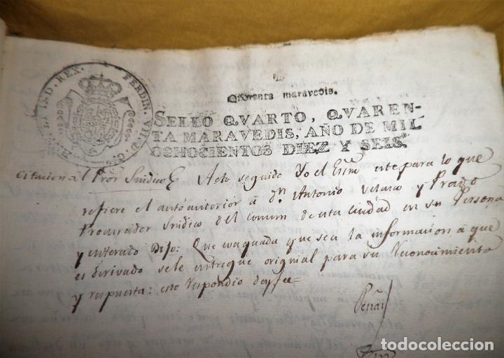 Manuscritos antiguos: CERTIFICADO DE LIMPIEZA DE SANGRE Y LIBERTAD - SEGOVIA AÑO 1816 - CHRISTIANOS VIEJOS·MUY RARO. - Foto 10 - 151482054