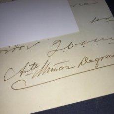 Manuscritos antiguos - CARTA MANUSCRITA Y FIRMADA DE ANTONIO MUÑOZ DEGRAIN AL CONSUL DE ORANGE. VALENCIA. PINTURA. - 151853162