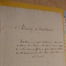 Manuscritos antiguos: ANTIGUA ESCRITURA.ANTONIO GUTIERREZ.ALCALA DE GUADAIRA.SEVILLA 1891. Lote 152040042