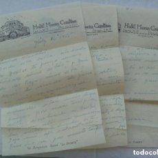 Manuscritos antiguos: CARTAS MANUSCRITAS DESDE EL HOTEL MARIA CRISTINA DE MEXICO , 1955. Lote 152044334