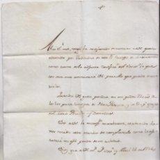 Manuscritos antiguos: CARTA DE ANTONIO LASSO DE LA VEGA ADMITIENDO UN NUEVO MAESTRANTE. MAESTRANZA DE SEVILLA. 1786. RARA . Lote 152133946