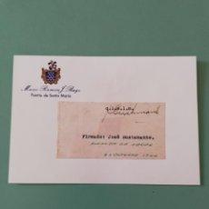 Manuscritos antiguos: SIGNED. FIRMA DEL ALCALDE DE JEREZ 1946. JOSÉ BUSTAMANTE. . Lote 152318758