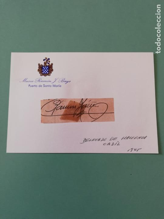 SIGNED. FIRMA DEL DELEGADO DE HACIENDA CÁDIZ 1945. (Coleccionismo - Documentos - Manuscritos)