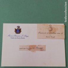 Manuscritos antiguos: SIGNED. FIRMA DEL TENIENTE CORONEL DEL REGIMIENTO DE ARTILLERÍA NÚMERO 14. 1950. Lote 152325874