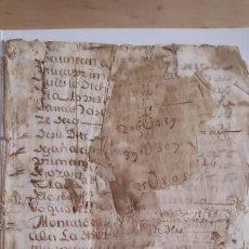 Manuscritos antiguos: GENEALOGÍA - ARBOL GENEALOGICO - ALCAZAR DE SAN JUAN - CIUDAD REAL - 1643. Lote 152549694