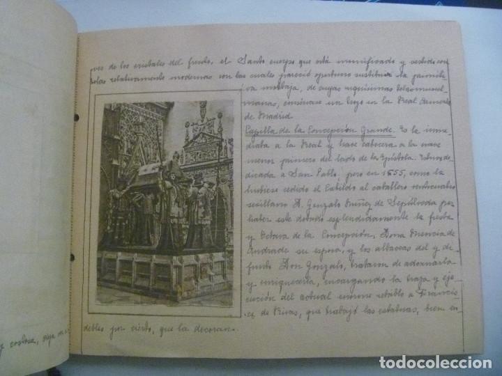 Manuscritos antiguos: FANTASTICO LIBRO MANUSCRITO ¨ MONUMENTOS DE SEVILLA ¨ , PRINCIPIOS DE SIGLO, CON POSTALES. ARTESANAL - Foto 6 - 152618550