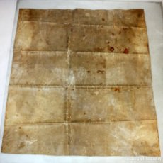 Manuscritos antiguos: IMPORTANTE PERGAMINO EN PIEL, MANUSCRITO EN LATÍN-1607- VILLA DE SITGES. 64 X 56 CM.. Lote 152884546