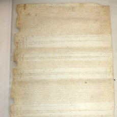 Manuscritos antiguos: PERGAMINO EN PIEL DE CABRA-MANUSCRITO EN LATÍN-1610-VILAFRANCA DEL PENEDES.. Lote 152895390
