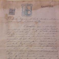 Manuscritos antiguos: 1874 JUZGADO CASTRO REY LUGO. Lote 152907400