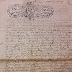 Manuscritos antiguos: 1832 SAN JUAN VILLARONTE LUGO. Lote 152915594