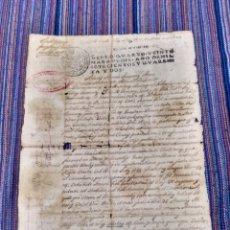 Manuscritos antiguos: DOCUMENTO 1742 RELATIVO A PORRERAS PORRERES MALLORCA. UNA HOJA. DIVERSAS ROTURAS.. Lote 153067494