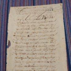 Manuscritos antiguos: DOCUMENTO UNA HOJA 1697. A CLASIFICAR. Lote 153068120