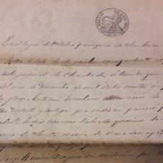 Manuscritos antiguos: 1854 ANTAS DE ULLA LUGO ESCRITURA. Lote 153115592