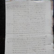 Manuscritos antiguos - MANUSCRITO AÑO 1856 VILLAFRANCA NAVARRA TASACIÓN Y VENTA CASA BONITA FIRMA NOTAR - 153593074