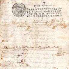 Manuscritos antiguos: DOCUMENTOS DEL PLEYTO DEL MAYORAZGO DE AMAYA PAPEL SELLADO 1735-1736, 40 PAGINAS MANUSCRITAS. Lote 153775310