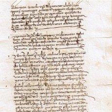 Manuscritos antiguos: MANUSCRITO DE 1546 LINAJE ZUBIAURRE, JUAN LOPEZ DE ZUVIAURRE DE AZCOYTIA. Lote 153931302