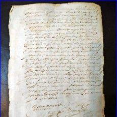 Manuscritos antiguos: AÑO 1698: MANUSCRITO ESPAÑOL DEL SIGLO XVII.. Lote 153950382
