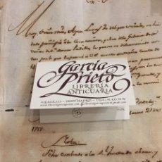 Manuscritos antiguos: REALES ALCAZARES DE SEVILLA. OBRA EN LA GALERIA DE LOS BAÑOS. 1798. Lote 154111810
