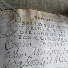 Manuscritos antiguos: LIBRO PERGAMINO DE 1755 FUDACION DE CAPELLANIA DE BAÑARES . Lote 154153430