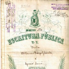 Manuscritos antiguos: TRES ESCRITURAS DEL DELTA DEL EBRO 1892-1915-1925. Lote 154239314