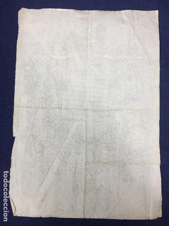 Manuscritos antiguos: POESIA MANUSCRITA TINTA ESCUDO PERFORADO AGUJA CARTA AMOR MITAD S XVIII 29,5X21CMS - Foto 4 - 154267734
