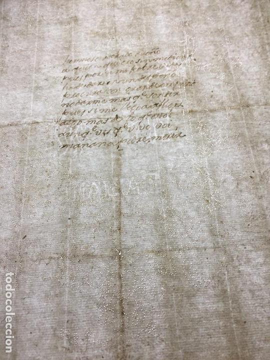 Manuscritos antiguos: POESIA MANUSCRITA TINTA ESCUDO PERFORADO AGUJA CARTA AMOR MITAD S XVIII 29,5X21CMS - Foto 6 - 154267734