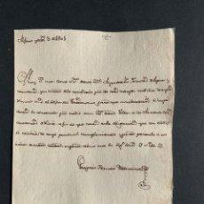 Manuscritos antiguos: 1801 - ALFARO - CONDUCTORES DE NIEVE - JUNTA DE AGUAS - MANUSCRITO. Lote 154384594