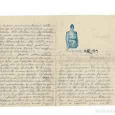 Manuscritos antiguos: CARTA ENVIADA DESDE MEÑALARA. 4 ABRIL 1939. PAPEL OFICIAL. CON IMAGEN DEL CAUDILLO. MUY RARA. Lote 154630910