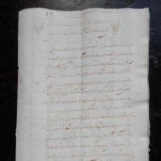 Manuscritos antiguos: MANUSCRITOS AÑO 1678 VALENCIA LOTE 10 APOCAS CONDE VILLAFRANQUESA 36 PGS - VER TODAS FICHA VENTA-. Lote 154658714