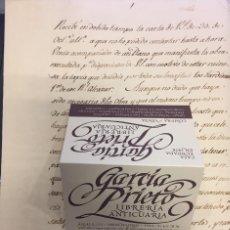 Manuscritos antiguos: REALES ALCAZARES DE SEVILLA. 2 CARTAS DEL CONDE DE FLORIDABLANDA Y 1 CARTA DE D. FRANCISCO BRUNA. Lote 154833262