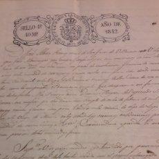 Manuscritos antiguos: 1842 ISABEL II SAN JUAN LUGO. Lote 154839986