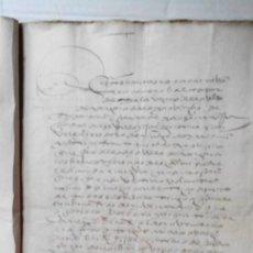 Manuscritos antiguos: MANUSCRITO DE 1549 EN SEVILLA, IÑIGO DE IZALA A FAVOR DE JUAN DE NARBAYZA. Lote 154900250