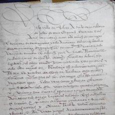 Manuscritos antiguos: MANUSCRITO DE 1560 POSESION DE UNA CASA EN PUBLICA SUBASTA Y CARTA DE PAGO. Lote 154905230