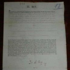 Manuscritos antiguos: 1827 RESOLUCION DE FERNANDO VII, RELATIVA A TENIENTE CORONEL DE INFANTERIA D. FRANCISCO LOPEZ MESAS,. Lote 154923462