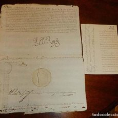 Manuscritos antiguos: 1807 CARLOS IV, CONCESION DEL TITULO DE CABALLERO DE LA REAL Y DISTINGUIDA ORDEN ESPAÑOLA DE CARLOS . Lote 154937342