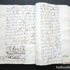 Manuscritos antiguos: AÑO 1738, MADRID. MESÓN DEL PEINE, CASA EN LA CALLE DE POSTAS. HIJUELA DE 184 PÁGINAS.. Lote 155102398
