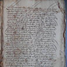 Manuscritos antiguos: ORENSE - MONFORTE DE LEMOS IMPORTANTE MANUSCRITO AÑO 1548 MÁS DE 220 PAGS. VER IMÁGENES FICHA VENTA. Lote 155167490