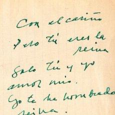 Manuscritos antiguos: MANUSCRITO Y AUTÓGRAFO AMOROSO DE PABLO NERUDA. Lote 155249814
