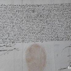 Manuscritos antiguos: EL GENERAL ORDEN DOMINICOS F BECCARIA DE MONTE REGALE REFORMA ALEMANA TURIN 1595. SELLO SECO ESCUDO. Lote 155427218