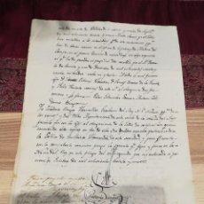 Manuscritos antiguos: DOCUMENTO MANUSCRITO OTORGADO EN NAVA DEL REY, VALLADOLID, EN OCTUBRE DE 1831.. Lote 155432030