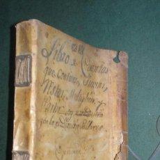 Manuscritos antiguos: QUADERNO DE DIFERENTES QUENTAS, REDUCCION DE MONEDAS, CAMBIO EN PLAZAS EUROPEAS... ZARAGOZA 1797. Lote 155480806