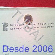 Manuscritos antiguos: TUBAL REPUBLICA DIRECCION GANADERIA ESTADISTICA Y COMERCIO FORMULARIO. Lote 155525010