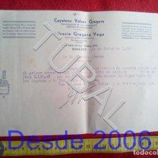 Manuscritos antiguos: TUBAL 1948 CARTA GESTOR. Lote 155692922