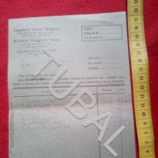 Manuscritos antiguos: TUBAL 1948 BADAJOZ FACTURA GESTOR. Lote 155694850