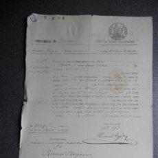 Manuscritos antiguos: DESAMORTIZACIÓN PAGARÉ AÑO1861 FISCAL 4º ALHAMA ZARAGOZA VENTA BIENES PROPIOS. Lote 155709258