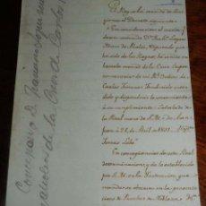 Manuscritos antiguos: DESPACHO DE 1807 CARLOS III, CONCESION DE LA CRUZ SUPERNUMERARIA DE CARLOS III, FIRMADO TOMAS LOBO,. Lote 155779854
