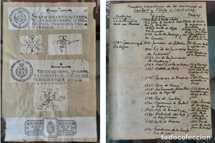 Manuscritos antiguos: Cartera de piel con documentos y grabados siglo 19 - Foto 5 - 155790698
